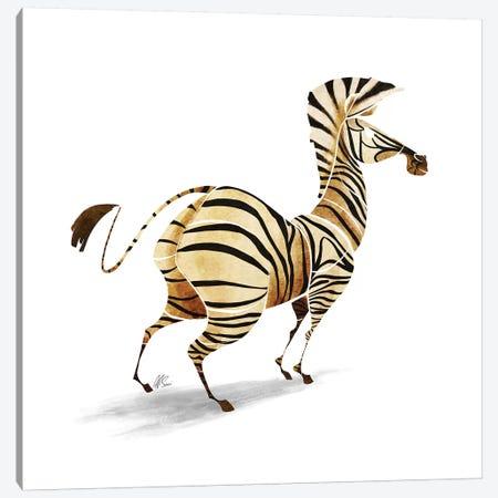 Zebra Canvas Print #SAI61} by SAEIART Art Print