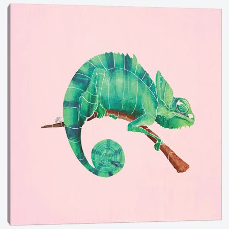 Chameleon Canvas Print #SAI8} by SAEIART Canvas Wall Art