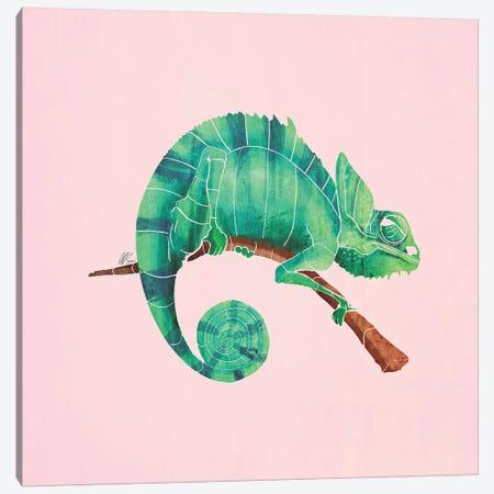 Chameleon Canvas Print #SAI8} by SAEIART Canvas Wall Art