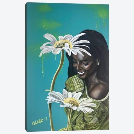 I'm so Happy Canvas Print #SAL12} by Stina Aleah Art Print