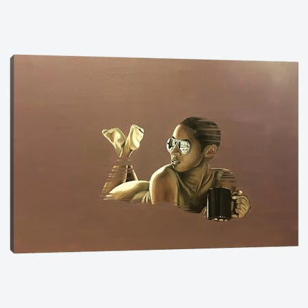 Morning Coffee Canvas Print #SAL19} by Stina Aleah Canvas Art Print