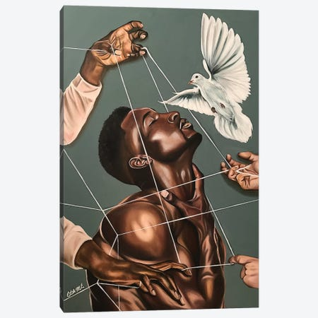 Spiritual Warfare Canvas Print #SAL37} by Stina Aleah Canvas Wall Art