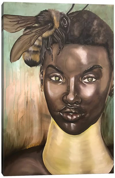 """Honey, I Love"" Canvas Art Print"