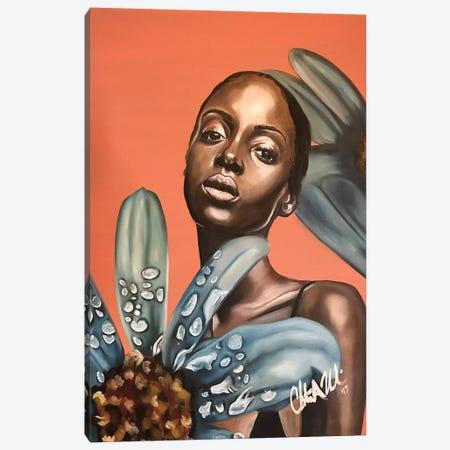 Flora At Dawn Canvas Print #SAL6} by Stina Aleah Canvas Artwork