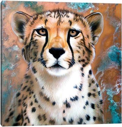 Copper Cheetah Canvas Art Print