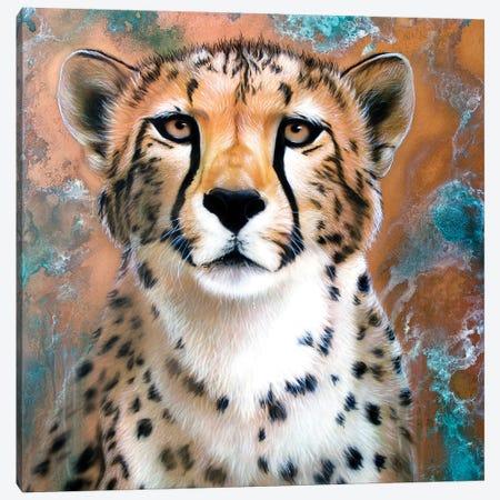 Copper Cheetah Canvas Print #SAN15} by Sandi Baker Canvas Artwork