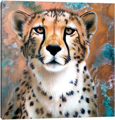 Copper Cheetah Canvas Art Print