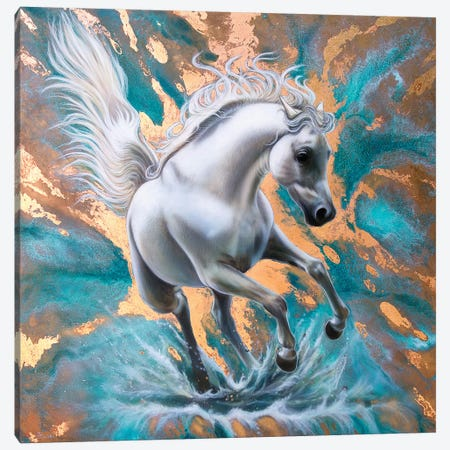 Copper Stallion Canvas Print #SAN24} by Sandi Baker Canvas Print