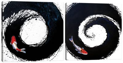 The Spiral Diptych Canvas Art Print