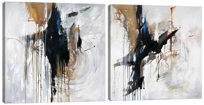 Canyon Blue Diptych Canvas Art Print