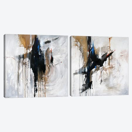 Canyon Blue Diptych Canvas Print Set #SAN2HSET003} by Sandi Baker Canvas Art Print