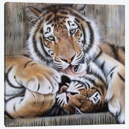 Diana's Duo Canvas Print #SAN34} by Sandi Baker Canvas Wall Art