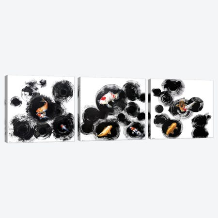 Raindrops Reveal Triptych Canvas Print Set #SAN3HSET002} by Sandi Baker Art Print