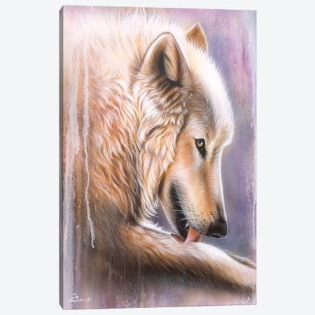 Dreamscape Wolf IV Canvas Print #SAN40} by Sandi Baker Canvas Artwork