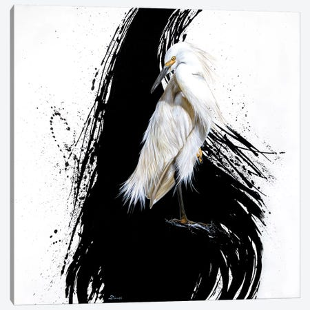 Egret I Canvas Print #SAN41} by Sandi Baker Canvas Artwork