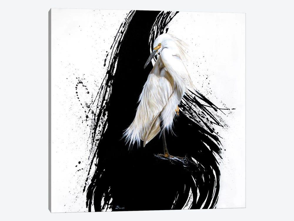 Egret I by Sandi Baker 1-piece Canvas Art