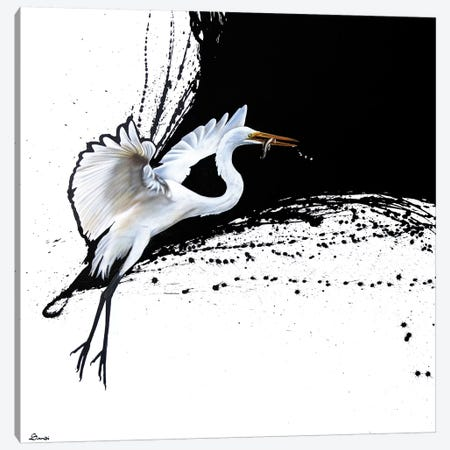 Egret II Canvas Print #SAN42} by Sandi Baker Canvas Wall Art