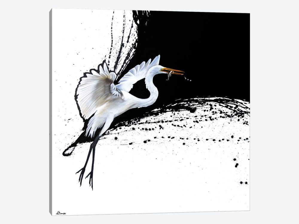 Egret II by Sandi Baker 1-piece Canvas Art Print