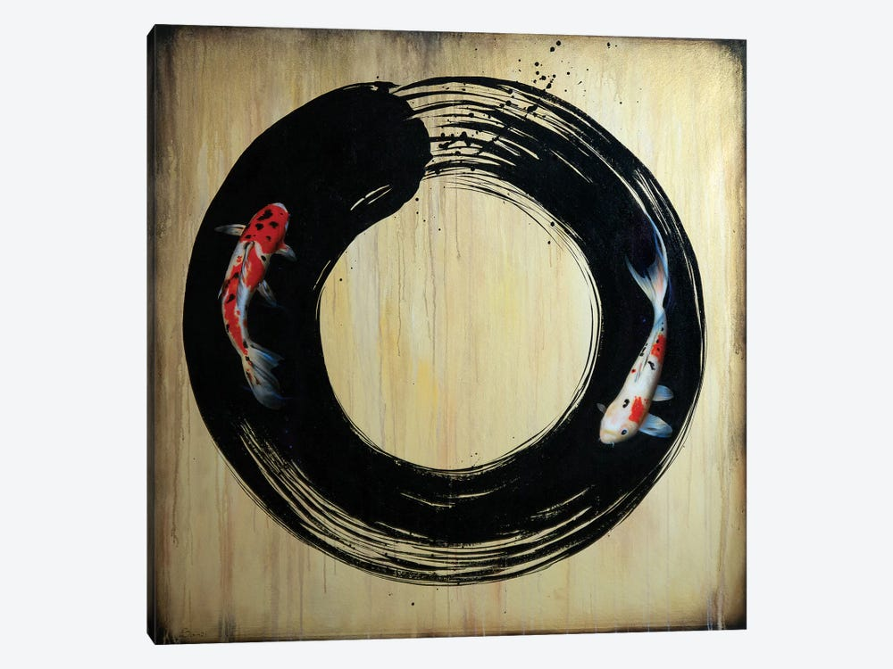 Enso With Koi by Sandi Baker 1-piece Art Print