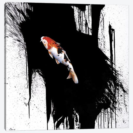 Koi Canvas Print #SAN49} by Sandi Baker Canvas Artwork