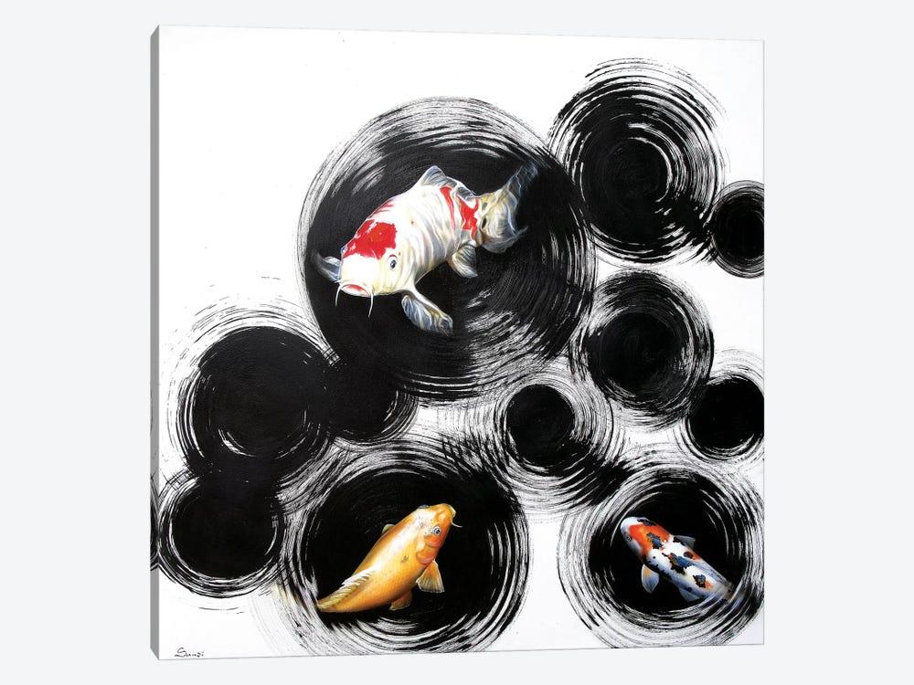 Raindrops Reveal II by Sandi Baker 1-piece Canvas Art Print