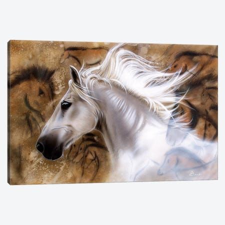 The Source - Horse Canvas Print #SAN80} by Sandi Baker Canvas Art