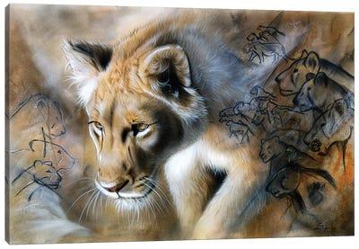 The Source - Lion Canvas Art Print