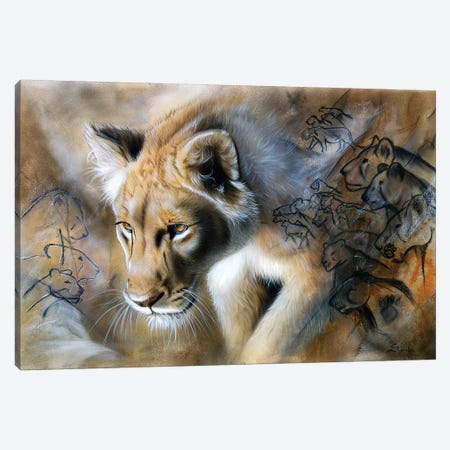 The Source - Lion Canvas Print #SAN81} by Sandi Baker Canvas Artwork