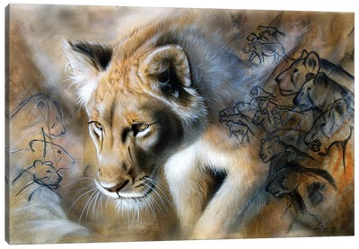 The Source - Lion Canvas Art Print