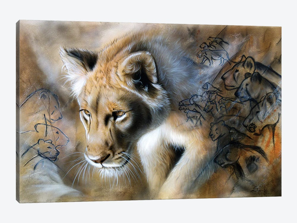 The Source - Lion by Sandi Baker 1-piece Canvas Artwork
