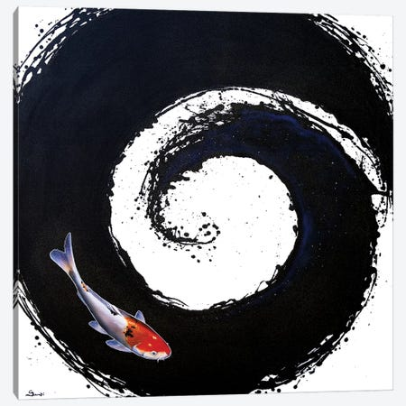 The Spiral II 3-Piece Canvas #SAN84} by Sandi Baker Canvas Print