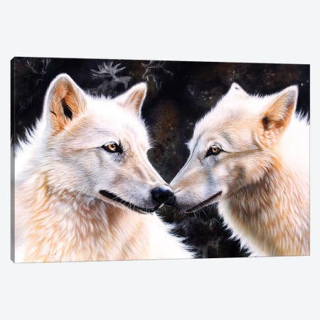 White Magic 3-Piece Canvas #SAN90} by Sandi Baker Canvas Print