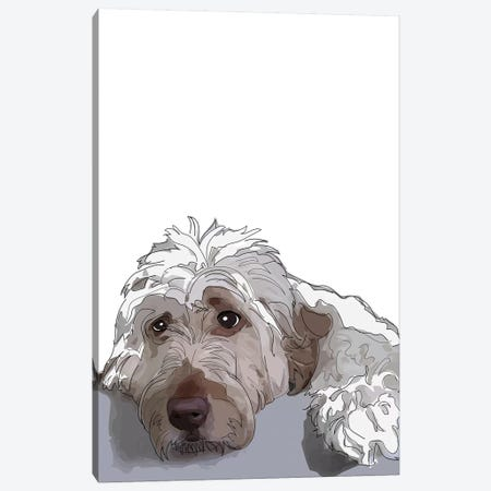 Shaggy Dog Canvas Print #SAP100} by Sketch and Paws Canvas Wall Art