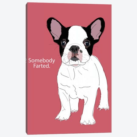 Somebody Farted Canvas Print #SAP103} by Sketch and Paws Canvas Wall Art