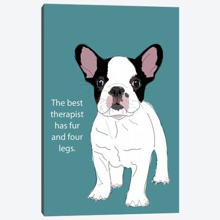 Therapist Canvas Print #SAP105} by Sketch and Paws Canvas Print