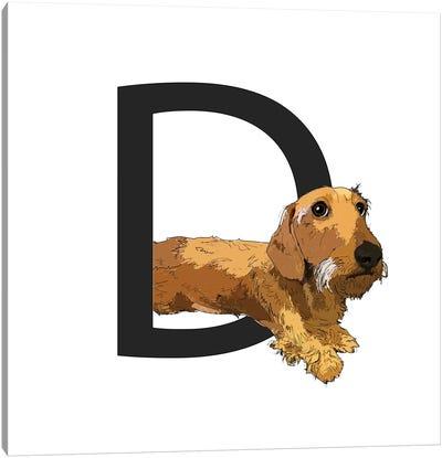 D Is For Dachshund Canvas Art Print