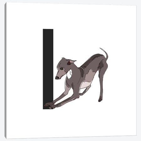 I Is For Italian Greyhound Canvas Print #SAP118} by Sketch and Paws Canvas Art Print