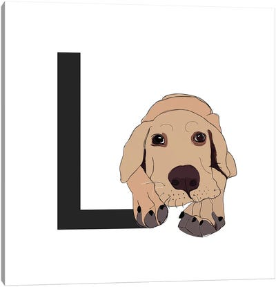 L Is For Labrador Canvas Art Print