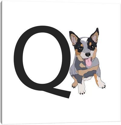 Q Is For Queensland Heeler Canvas Art Print