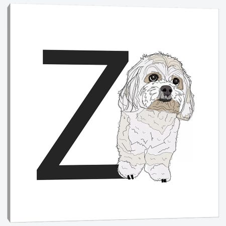 Z Is For Zuchon Canvas Print #SAP135} by Sketch and Paws Canvas Art