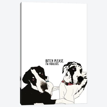 Bitch Please Great Danes Canvas Print #SAP14} by Sketch and Paws Canvas Art