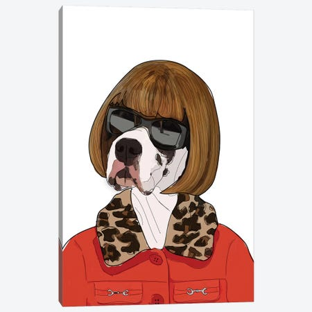 Anna Barktour Canvas Print #SAP1} by Sketch and Paws Canvas Art