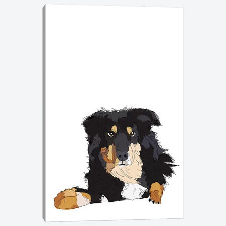 Border Collie Canvas Print #SAP20} by Sketch and Paws Canvas Artwork