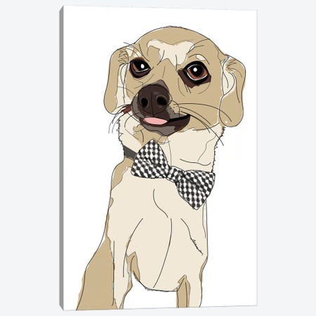 Chihuahua With Bowtie Canvas Print #SAP25} by Sketch and Paws Canvas Art Print