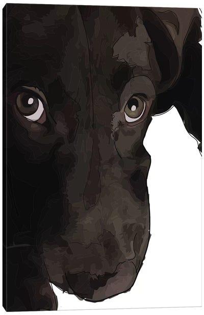 Chocolate Lab Puppy Canvas Art Print
