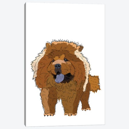Chow Chow Canvas Print #SAP29} by Sketch and Paws Canvas Art