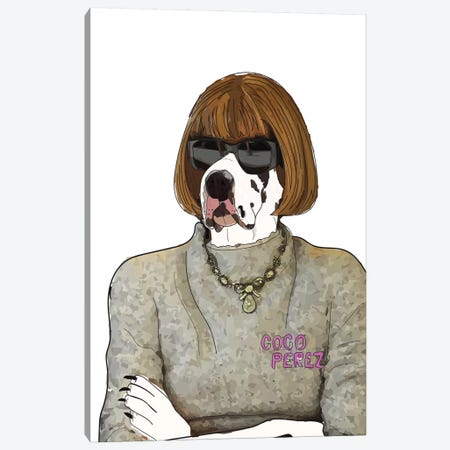 Bark Face Canvas Print #SAP2} by Sketch and Paws Canvas Wall Art