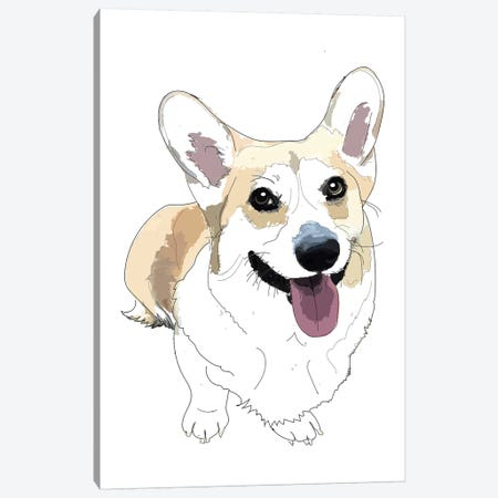 Corgi Canvas Print #SAP33} by Sketch and Paws Art Print