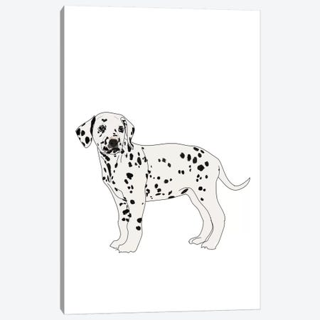 Dalmatian Canvas Print #SAP35} by Sketch and Paws Canvas Wall Art