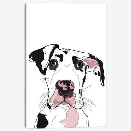 Dane Canvas Print #SAP36} by Sketch and Paws Canvas Artwork